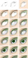 Step by Step eye by Tamilia