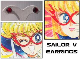 Sailor V's Earrings by Topaz-Jewelry