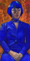 ELECTRIC BLUE - oil painting by AstridBruning