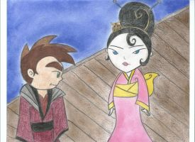 Raimundo+Kimiko in Formal Garb by Nielleshee