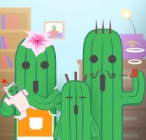 cactuar family by Cramous