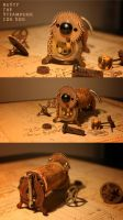 Rusty the Steampunk Cog Dog by turnerstokens