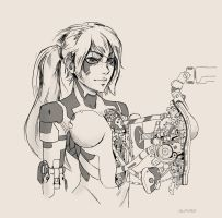 Cyborg girl 19 by AlpYro