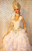 White Queen Barbie Doll ooak by dakotassong