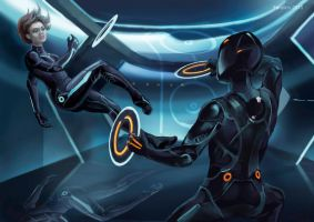 Disc Wars: Ida vs Rinzler by feralkin