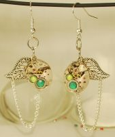 Steampunk 'Earrings of Nature'. by Henri-1
