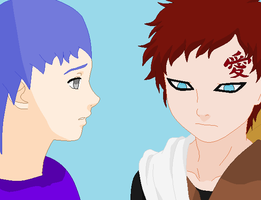 Gaara and Chino thinking of our pasts by kisshugirl