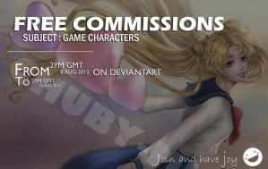 Free commission - Game characters by ChubyMi