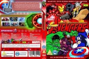 The Avengers DVD series 1 cover by cutnpaste-since2011