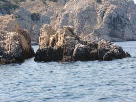 rocks in the water by littleancsi