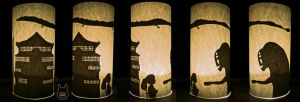 Spirited Away Silhouette Cylinder (Tutorial) by studioofmm