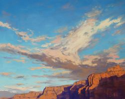 Canyon sky by artsaus