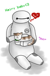 BH6 Baymax: Hairy baby~ by TsundereViolet-Chan