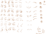 Face Elements Study by Strogonoff
