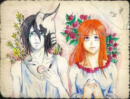 Orihime and Uquiorra by J-C-P