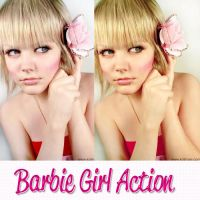 Barbie Girl Action by kittymoon23