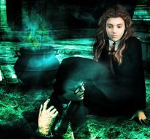 Girl Talk (Hermione and Myrtle) by deslea
