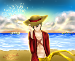 Luffy - I will be the pirate king! by Diulia