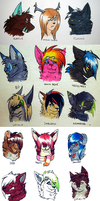 Headshot Commission Batch by CALLYKITTY