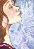 ACEO - Eyes Closed...Heart Open by KootiesMom