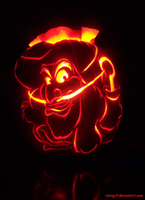 Disney Pumpkin 2008 by RyouGirl