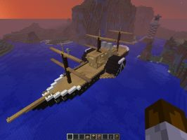 Minecraft revised steam ship pic1 by falcon01