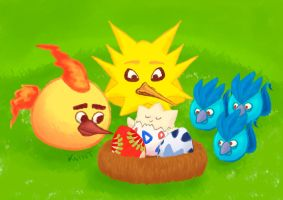 Crossover: Angry Kanto Birds by Keintus