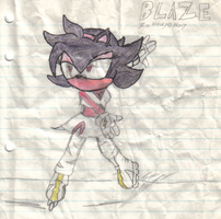 Blaze the hedgehog by ZR-the-hedgehog