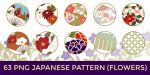 63 PNG Japanese Pattern (Flowers) by o-yome