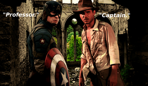 Indiana Jones and Captain America Crossover by Jones6192