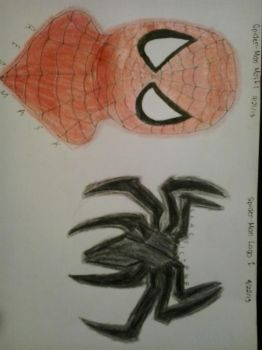 Spider-Man Mask and Logo by bbbfanatic