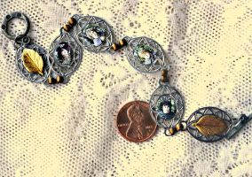 Lord of the Rings Four Hobbits Charm Bracelet by elllenjean