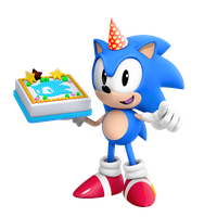 Classic Sonic Birthday Render by Nibroc-Rock