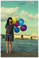.:I have five ballon:. by yudiari