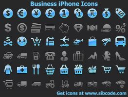 Business iPhone Icons by Iconoman