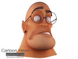 Cartoon Head WIP by robersonjk