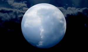 Cloud becomes the moon by BaldassareCossa