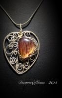 Cascade of Leaves Series - The Burning Heart by DreamsOfGems