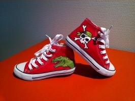 t-rex pirates shoe by neraksel