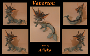 Vaporeon Paper Pokemon by Adisko