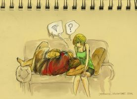 P4: grumble couch by dehdwood