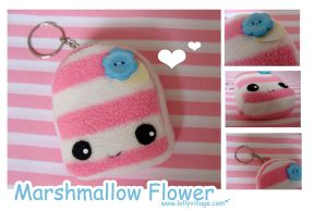 Marshmallow Flower the keyring by fuzzy-jellybeans