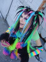 AX09: Rainbow Cybergoth by animelover4400