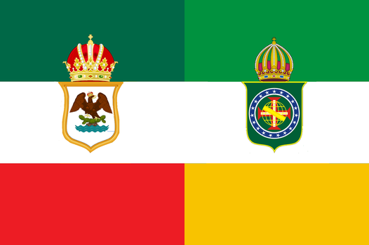 Mexican-Brazilian Empire Flag by 3D4D