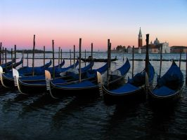 Gondolas at Sunset by parallel-pam