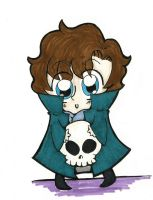 Sherlock and his Skull by AnnoyinglyCute