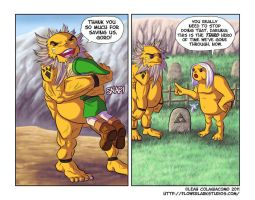 OoT- A Spine Farewell by FlowerlarkComics