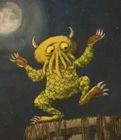 Wild rumpus on R'lyeh Detail by dawn-of-cthulhu