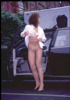 Nude Street in pantyhose only by Alpenni
