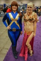 Popcon Indianapolis 2014 Slave Leia and Shadowcat by SirKirkules